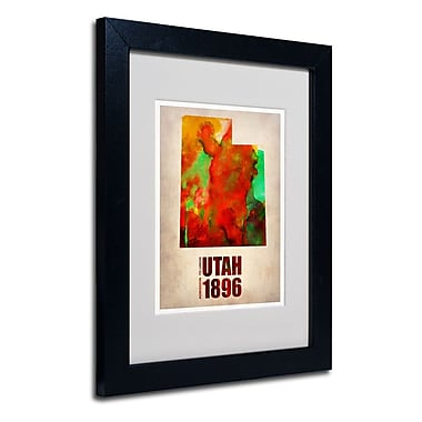 Trademark Fine Art 'Utah Watercolor Map' 11