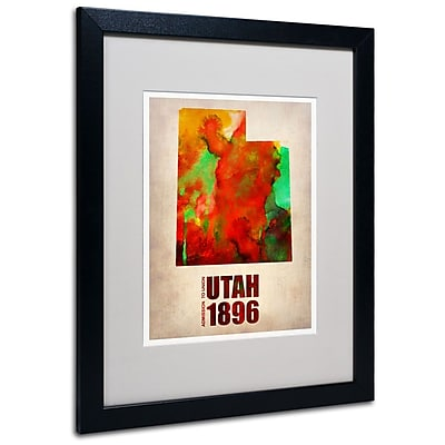 Trademark Fine Art 'Utah Watercolor Map' 16