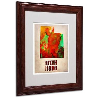 Trademark Fine Art 'Utah Watercolor Map' 11