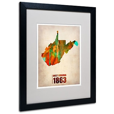 Trademark Fine Art 'West Virginia Watercolor Map' 16
