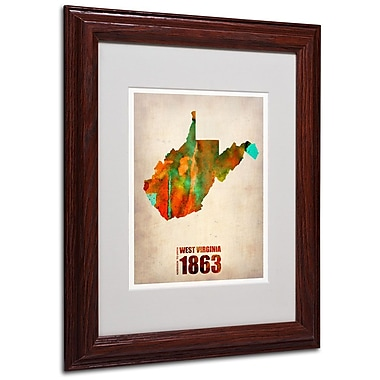 Trademark Fine Art 'West Virginia Watercolor Map' 11