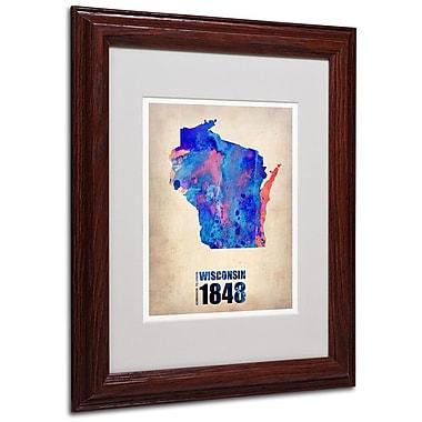 Trademark Fine Art 'Wisconsin Watercolor Map' 11