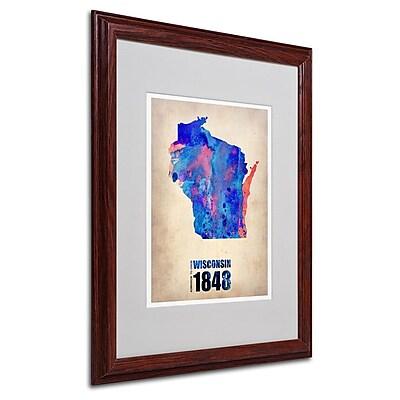 Trademark Fine Art 'Wisconsin Watercolor Map' 16