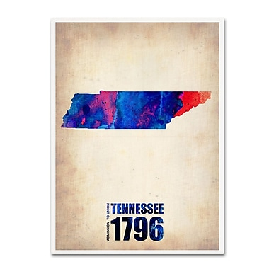 Trademark Fine Art 'Tennessee Watercolor Map' 18