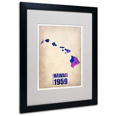 Trademark Fine Art 'Hawaii Watercolor Map' 16