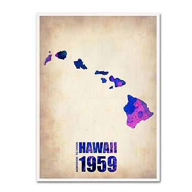 Trademark Fine Art 'Hawaii Watercolor Map' 18