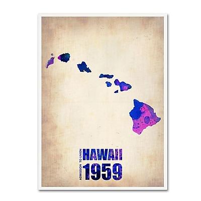Trademark Fine Art 'Hawaii Watercolor Map' 18