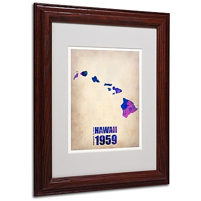 Trademark Fine Art 'Hawaii Watercolor Map' 11