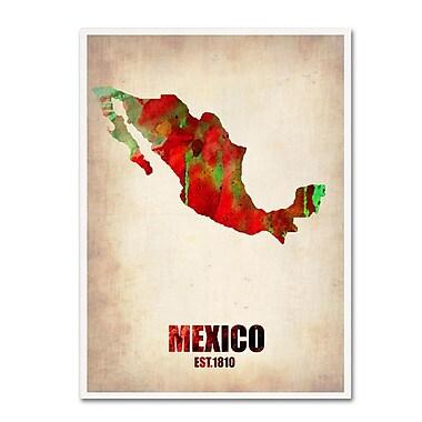Trademark Fine Art 'Mexico Watercolor Map' 18