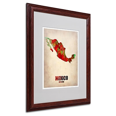 Trademark Fine Art 'Mexico Watercolor Map' 16