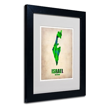 Trademark Fine Art 'Israel Watercolor Map'