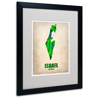 Trademark Fine Art 'Israel Watercolor Map' 16