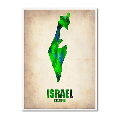 Trademark Fine Art 'Israel Watercolor Map' 24