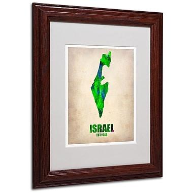 Trademark Fine Art 'Israel Watercolor Map' 11