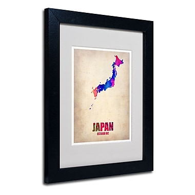 Trademark Fine Art 'Japan Watercolor Map'
