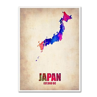 Trademark Fine Art 'Japan Watercolor Map' 18