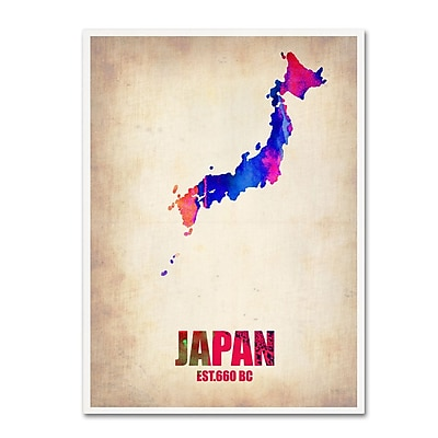Trademark Fine Art 'Japan Watercolor Map' 14