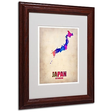 Trademark Fine Art 'Japan Watercolor Map' 11