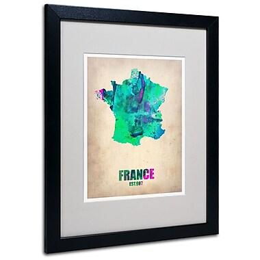 Trademark Fine Art 'France Watercolor Map' 16