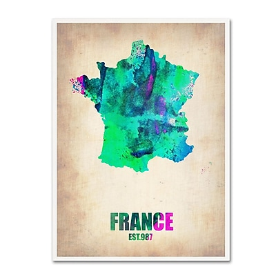 Trademark Fine Art 'France Watercolor Map' 35