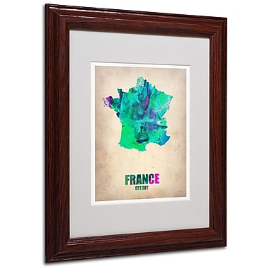 Trademark Fine Art 'France Watercolor Map' 11