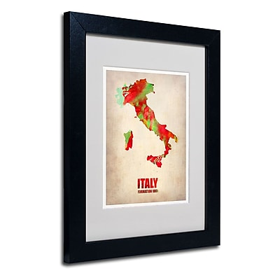 Trademark Fine Art 'Italy Watercolor Map' 11