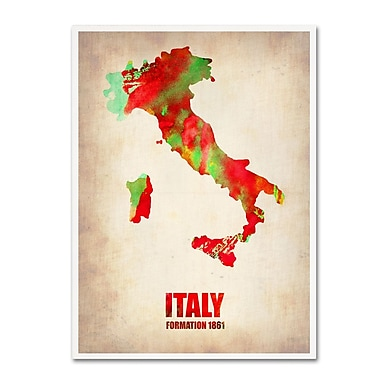 Trademark Fine Art 'Italy Watercolor Map' 24