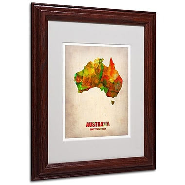 Trademark Fine Art 'Australia Watercolor Map' 11