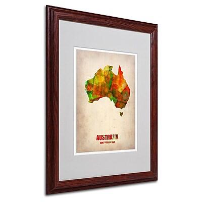Trademark Fine Art 'Australia Watercolor Map' 16