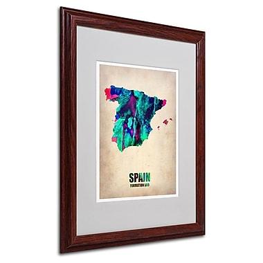 Trademark Fine Art 'Spain Watercolor Map' 16