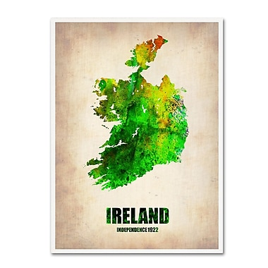 Trademark Fine Art 'Ireland Watercolor Map' 24