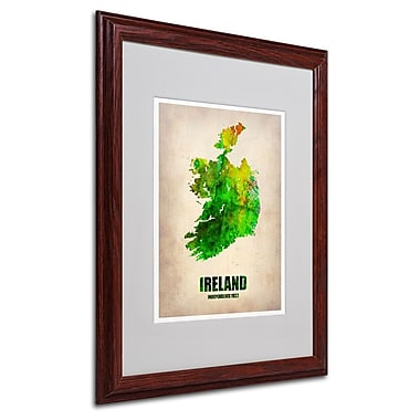 Trademark Fine Art 'Ireland Watercolor Map' 16