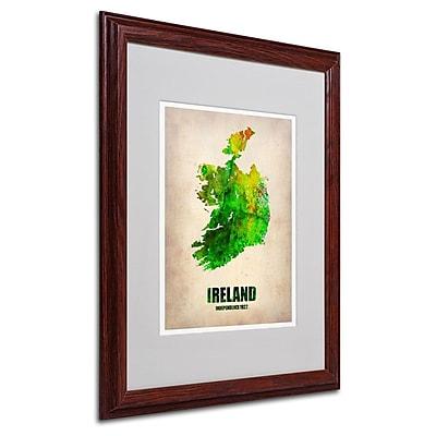 Trademark Fine Art 'Ireland Watercolor Map' 16