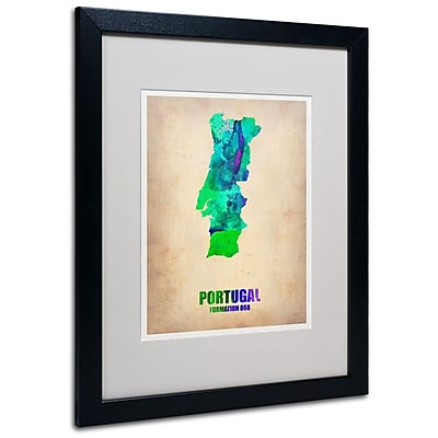 Trademark Fine Art 'Portugal Watercolor Map' 16