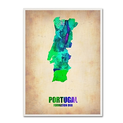 Trademark Fine Art 'Portugal Watercolor Map' 35