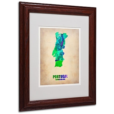 Trademark Fine Art 'Portugal Watercolor Map' 11