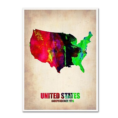Trademark Fine Art 'United States Watercolor Map' 18