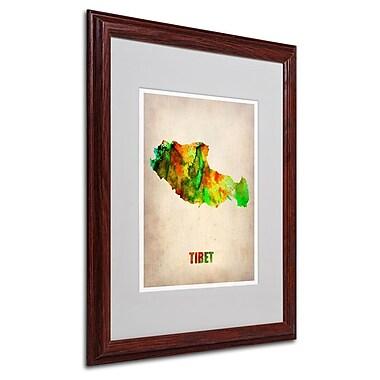 Trademark Fine Art 'Tibet Watercolor Map' 16