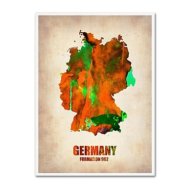 Trademark Fine Art 'Germany Watercolor Map' 35
