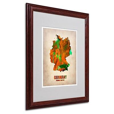 Trademark Fine Art 'Germany Watercolor Map' 16