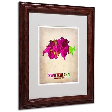 Trademark Fine Art 'Switzerland Watercolor Map' 11