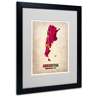 Trademark Fine Art 'Argentina Watercolor Map' 16