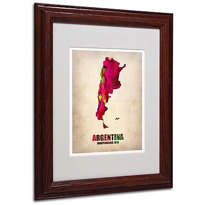 Trademark Fine Art 'Argentina Watercolor Map' 11