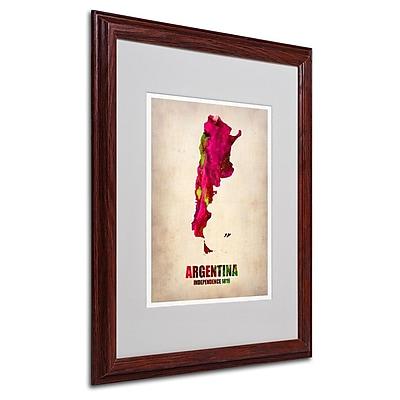Trademark Fine Art 'Argentina Watercolor Map' 16