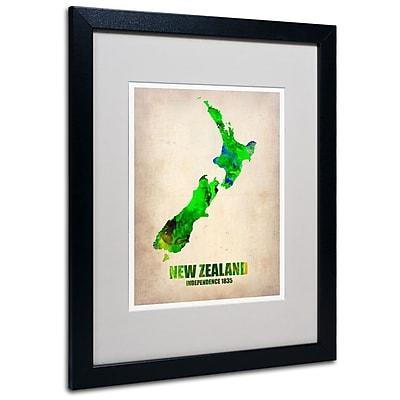 Trademark Fine Art 'New Zealand Watercolor Map' 16