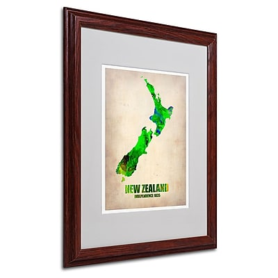 Trademark Fine Art 'New Zealand Watercolor Map' 16