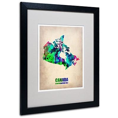 Trademark Fine Art 'Canada Watercolor Map' 16