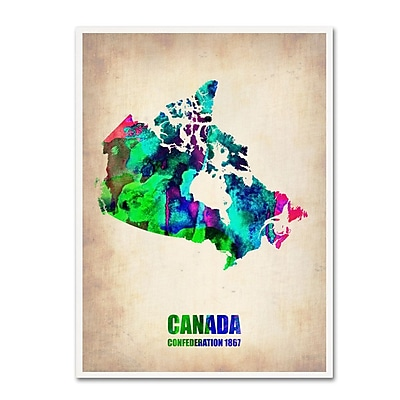 Trademark Fine Art 'Canada Watercolor Map' 35