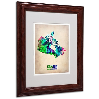 Trademark Fine Art 'Canada Watercolor Map' 11