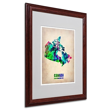 Trademark Fine Art 'Canada Watercolor Map' 16